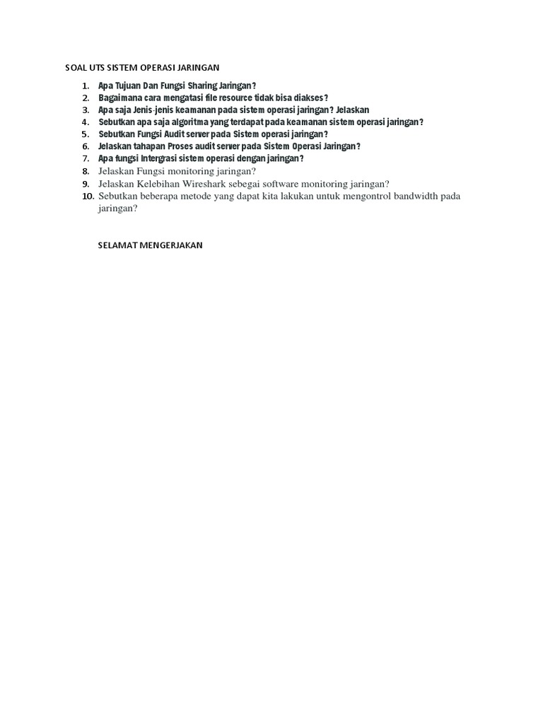 soal essay sistem operasi linux