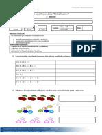 Control Matemática Multiplicaciones 07