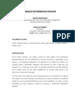 PONENCIA MANEJO DE RESIDUOS SÓLIDOS