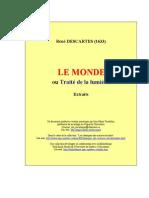 Descartes, Le Monde