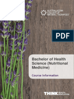 160108 ACNT Bachelor of Health Science (Nutritional Medicine)