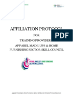 Affiliation Protocol With Application Form for Training Providers_Apparel