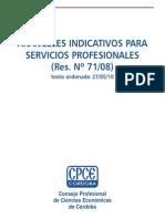 Res 71-08 Honorarios Sugeridos - CPCECBA