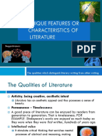 1.2 Unique Features or Characteristics of Literature