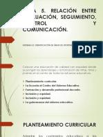 Relación Entre La Evaluación, Seguimiento, Control y Comunicación