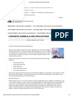 Concrete Chemicals and Applications