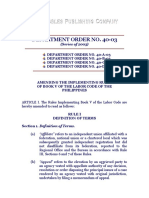 Deaprtment Order No. 40-03, Series of 2003