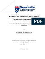 A Study of Butanol Production in a Batch
