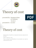 Theory of Cost