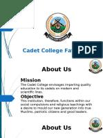 Cadet Colleg Fateh Jang - A Detailed Overview