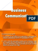 Business Communication - EnG301 Power Point Slides Lecture 12