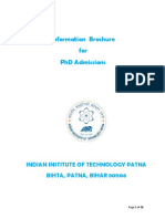 IIT Patna Phdadmissionbrochure_2017