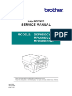 Brother InkJet DCP-MFC DCP6690CW MFC6490CW MFC6890CDW Parts and Service Manual