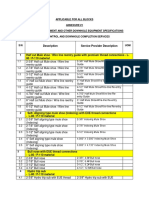 7. Sterling Tender Equipment List
