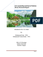 Library Research on Tourism industry of Pakistan