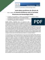 NP_Eficacia de ORY-3001 en Anemia falciforme ante la Sociedad Americana de Hematología (ASH)