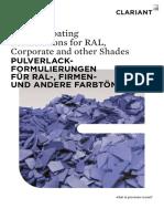 Powder Coating Formulations for RAL