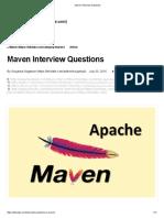 Maven Interview Questions