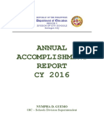 Accomplishment Report (Must See for DJAL)