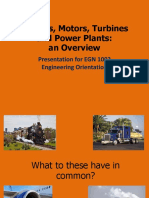 Engines, Motors, Turbines and Power Plants