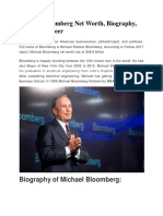 Michael Bloomberg Net Worth, Biography, Business Career