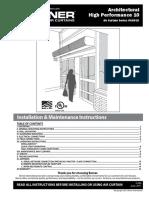 Berner Air Curtain Installation Instructions