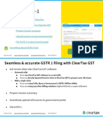GSTR 1 Guide - ClearTax GST
