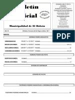 Boletín Oficial Octubre 2017 M.E.B.  N° 81