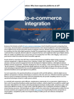 ERP-To-e-commerce Integration - Why Have Separate Platforms at All