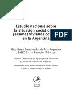 Estudio nacional sobre  la situación social de las personas viviendo con VIH en la Argentina