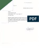 Carta del Ministerio de Educación