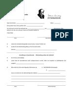 Anmeldung Sprechstunde Formular