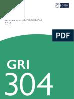 Spanish GRI 304 Biodiversity 2016