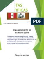 Revistas Cientificas Presentacion Ciclo de Titulacion