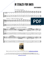 Major Scales for Bass
