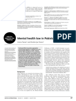 Mental health and Challenges in Pakistan