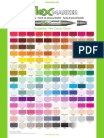 Flex Marker Colour Chart 148