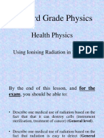 3-Medical Uses of Ionising Radiation