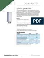 AFL Fiber Optic Hardware Splice Closures Accessori