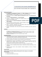 Shashank Finance Resume