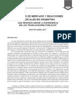 Reformas de Mercado y Reacciones Sindicales en Argentina. Una Revisión Desde La Experiencia de Los Trabajadores Públicos-Armelino