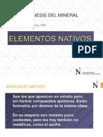 s3 - Elementos Nativos, Sulfuros y Sulfosales