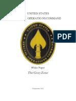 Gray Zones - USSOCOM White Paper 9 Sep 2015