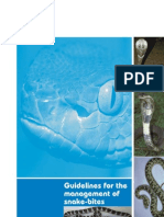 WHO-SEAR Snake Bite Guidelines 2010