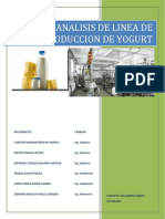 Inf Analisis de Linea Produccion de Yogurt