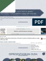 deteksi pencemaran hidrokarbon dengan GPR dan EM