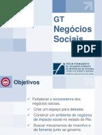 Apresentação Balanço GT Negócios Sociais