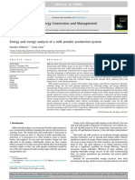 Energy and Exergy Analysis of a Milk Powder Production System