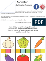 Fruits and Veggies Pre k Pack