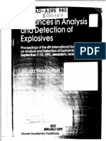 Advaaces in Analysis and Detection of Explosives